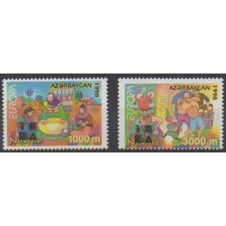 Azerbaïdjan - 1998 - No 359/360 - Folklore - Europa