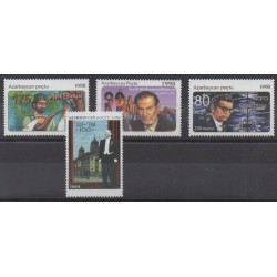 Azerbaïdjan - 1998 - No 370/373 - Célébrités