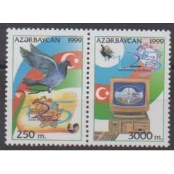 Azerbaijan - 1999 - Nb 392D/392E - Postal Service