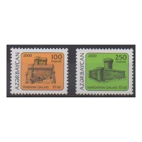 Azerbaijan - 2000 - Nb 399/400 - Castles