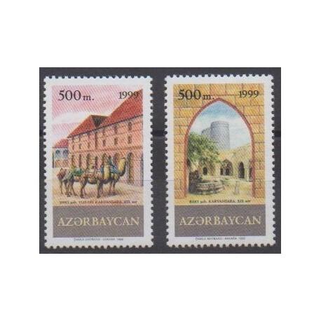 Azerbaïdjan - 1999 - No 392A/392B - Histoire