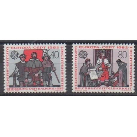 Liechtenstein - 1982 - No 732/733 - Histoire - Europa