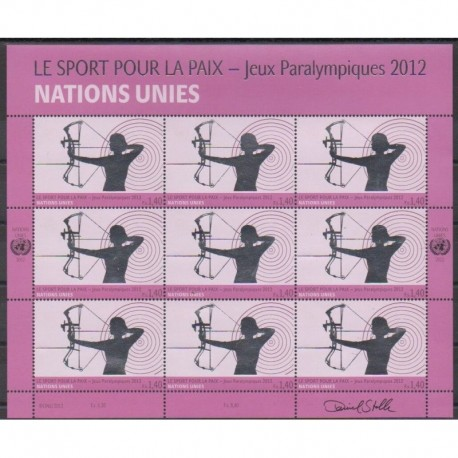 United Nations (UN - Geneva) - 2012 - Nb F803 - Summer Olympics