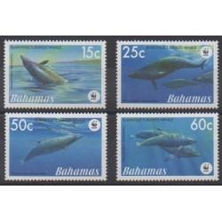 Bahamas - 2007 - Nb 1268/1271 - Mamals - Sea life - Endangered species - WWF