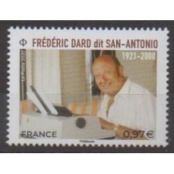 France - Poste - 2020 - No 5405 - Littérature - Frédéric Dard (San-Antonio)