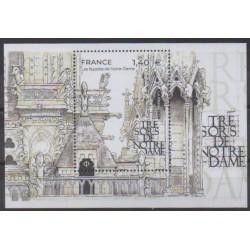 France - Blocks and sheets - 2020 - Nb BF151 - Churches - Notre Dame de Paris