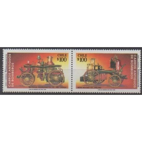 Chile - 1993 - Nb 1159/1160 - Firemen