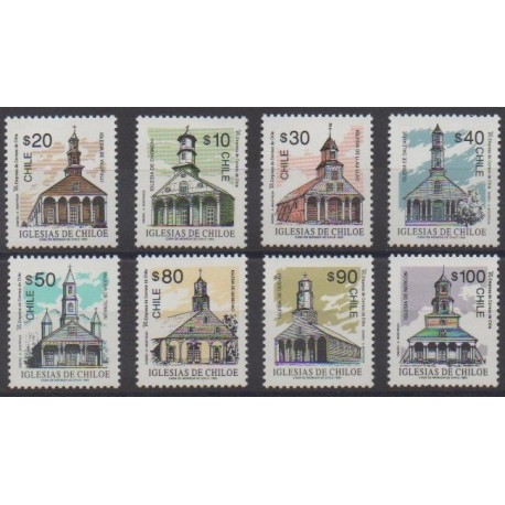 Chili - 1993 - No 1165/1172 - Églises