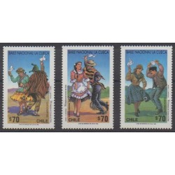 Chile - 1993 - Nb 1173/1175 - Folklore