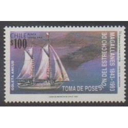 Chile - 1993 - Nb 1184 - Boats - Various Historics Themes