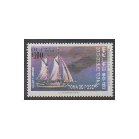 Chile - 1993 - Nb 1184 - Boats - Various Historics Themes