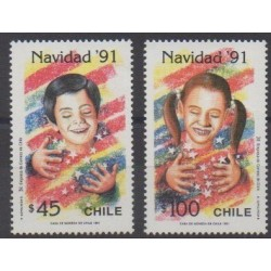 Chile - 1991 - Nb 1086/1087 - Christmas