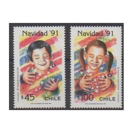 Chile - 1991 - Nb 1086/1087 - Christmas