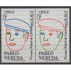 Chile - 1991 - Nb 1076/1077 - Literature