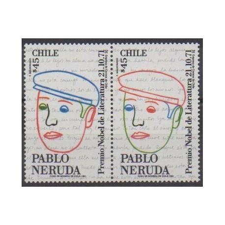 Chili - 1991 - No 1076/1077 - Littérature