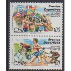 Chile - 1991 - Nb 1050/1051 - Various sports