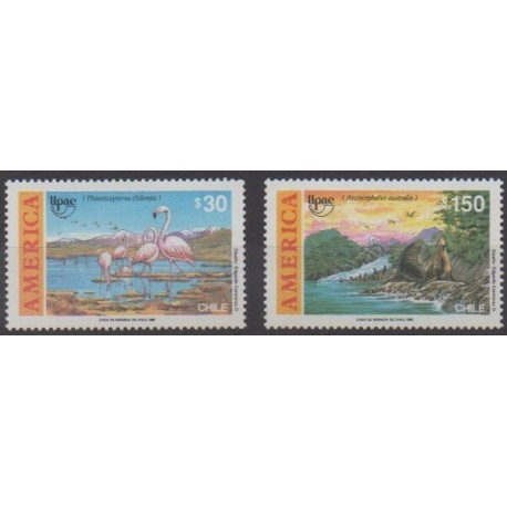 Chile - 1990 - Nb 1003/1004 - Animals