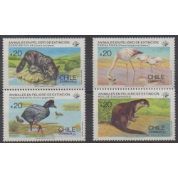 Chile - 1985 - Nb 702/705 - Endangered species - WWF