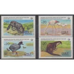 Chili - 1985 - No 702/705 - Espèces menacées - WWF