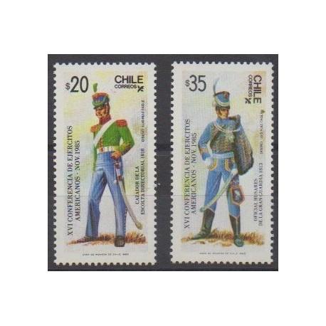 Chili - 1985 - No 717/718 - Histoire militaire