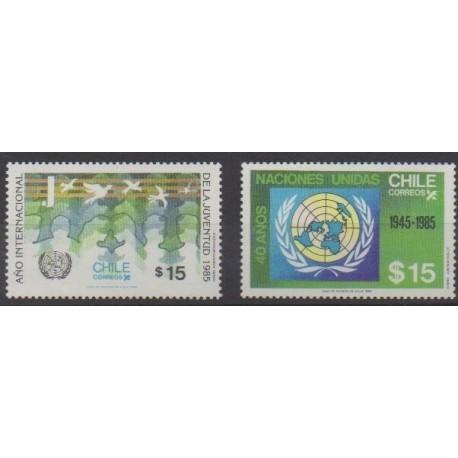 Chili - 1985 - No 706/707 - Nations unies