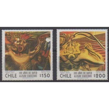 Chili - 1997 - No 1422/1423 - Peinture