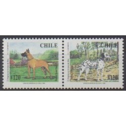 Chile - 1998 - Nb 1439/1440 - Dogs