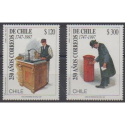 Chili - 1997 - No 1437/1438 - Service postal