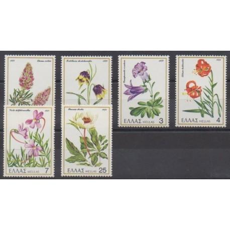Greece - 1978 - Nb 1280/1285 - Flowers