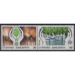 Grèce - 1986 - No 1611/1612 - Environnement - Europa