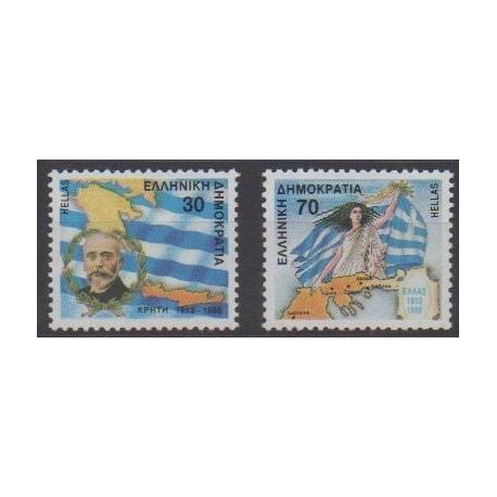 Greece - 1988 - Nb 1678/1679 - Various Historics Themes