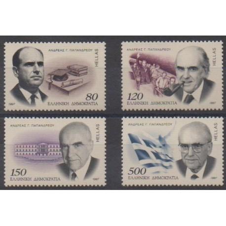 Grèce - 1997 - No 1915/1918 - Célébrités