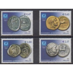 Greece - 2004 - Nb 2207/2210 - Coins, Banknotes Or Medals