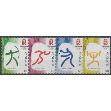 Vanuatu - 2008 - No 1305/1308 - Jeux Olympiques d'été
