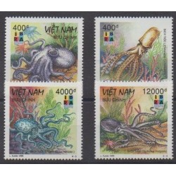 Vietnam - 1999 - No 1823/1826 - Vie marine - Philatélie