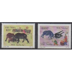 Vietnam - 1999 - Nb 1854/1855 - Folklore