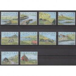 Féroé (Iles) - 2004 - No 469/478 - Sites