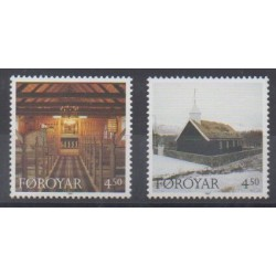 Faroe (Islands) - 1997 - Nb 322/323 - Churches - Christmas