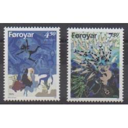 Féroé (Iles) - 1997 - No 313/314 - Littérature - Europa
