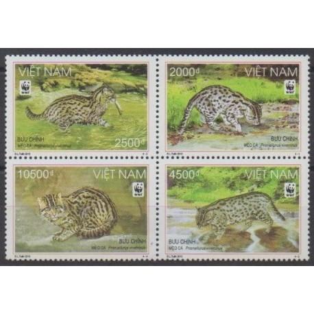 Vietnam - 2010 - No 2359/2362 - Mammifères - Espèces menacées - WWF