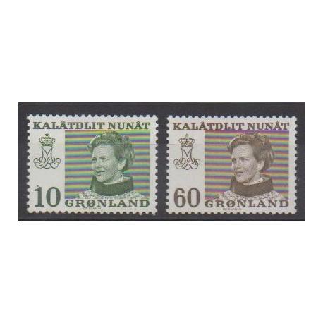 Groenland - 1973 - No 72a/73a - Royauté - Principauté