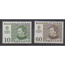 Groenland - 1973 - No 72/73 - Royauté - Principauté