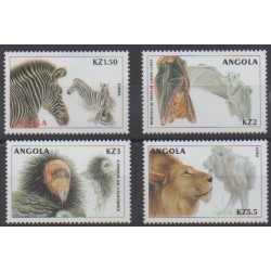 Angola - 2000 - No 1409/1412 - Animaux