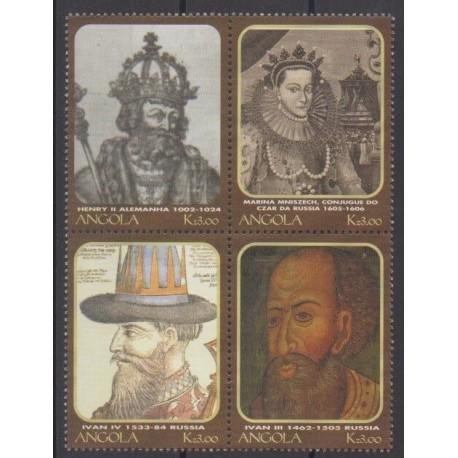 Angola - 2000 - No 1472/1475 - Royauté - Principauté