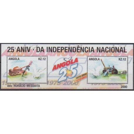 Angola - 2001 - Nb 1503/1504 - Various Historics Themes