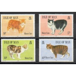 Man (Isle of) - 1989 - Nb 393/396 - Cats