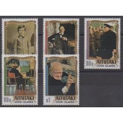 Aitutaki - 1974 - No 121/125 - Célébrités