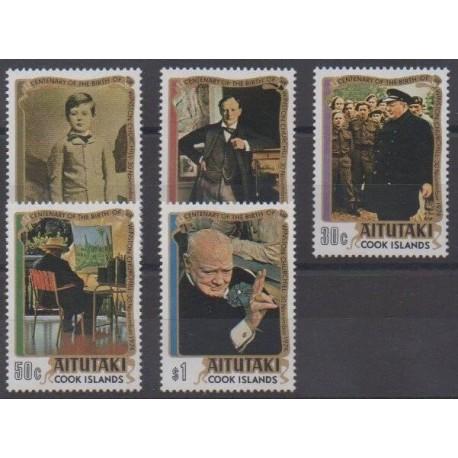 Aitutaki - 1974 - Nb 121/125 - Celebrities