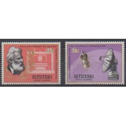 Aitutaki - 1977 - No 196/197 - Télécommunications