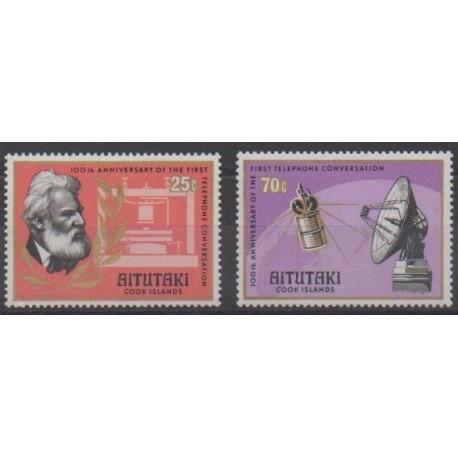 Aitutaki - 1977 - Nb 196/197 - Telecommunications